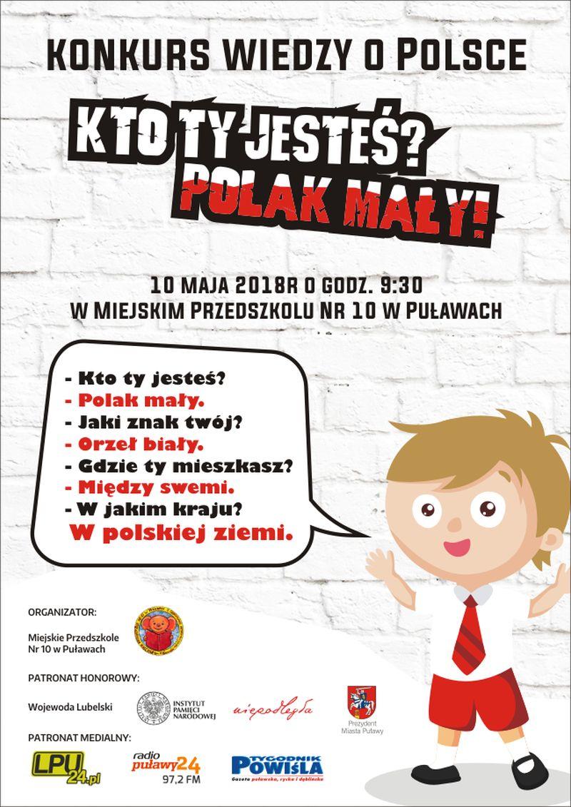Konkurs Wiedzy O Polsce Kto Ty Jesteś Polak Mały Ipulawy